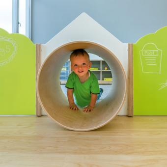Trennwand Haus mit Tunnel