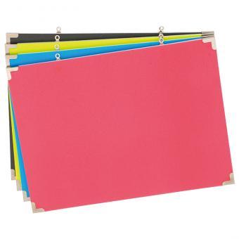 Farbige Pinnwände 4 Farben im Set