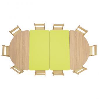 Tischreihe BACCUS - Halbrundisch 120 x 60 cm