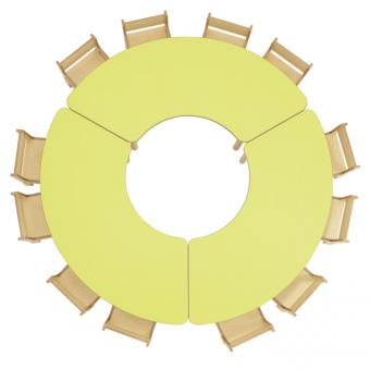Tischreihe BACCUS - Segmenttisch 160 x 75 cm