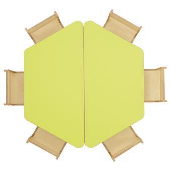 Tischreihe BACCUS - Trapeztisch 120 x 80 cm