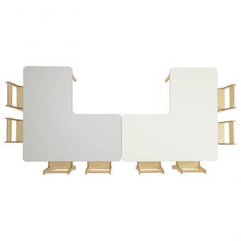 Tischreihe BACCUS - Winkeltisch 120 x 120 cm