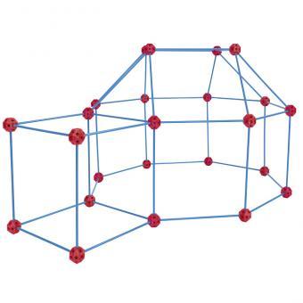 Blauer Steckbaukasten Geometrie XXL