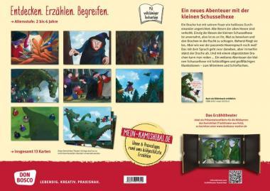 Kamishibai-Bildkarten, Die kleine Schusselhexe und der Drache