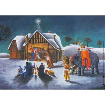 Kamishibai-Bildkarten, Es stand ein Stern in Bethlehem