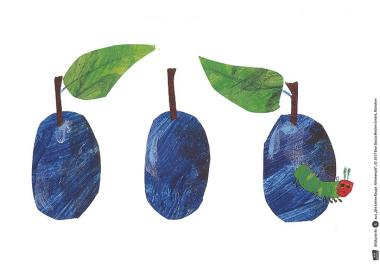 Kamishibai-Bildkarten, Die kleine Raupe Nimmersatt