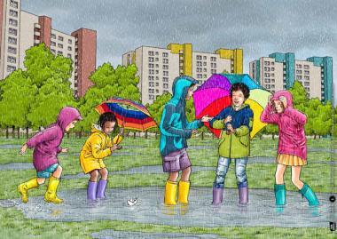 Kamishibai-Bildkarten, Der Wasserkreislauf in der Natur