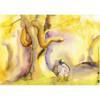 Kamishibai-Bildkarten, Adam und Eva