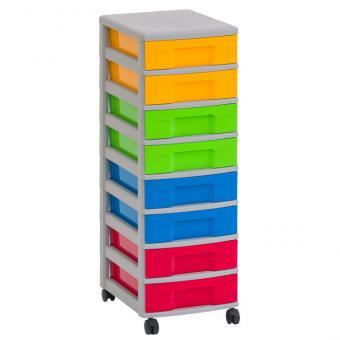 Flexeo Rahmensystem - Flache Box, einzeln, mit grauem Rahmen