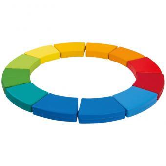 Sitzkissen-Farbkreis Regenbogen