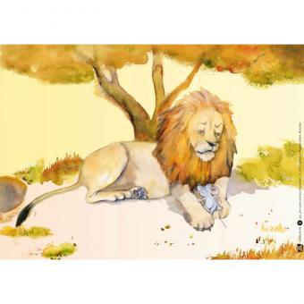 Kamishibai-Bildkartenset, Der Löwe und das Mäuschen