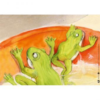 Kamishibai-Bildkartenset, Die beiden Frösche