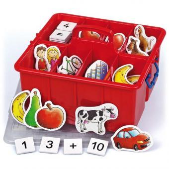Zählen und Rechnen – bildhafte Mathematik in einer Kunststoff-Box