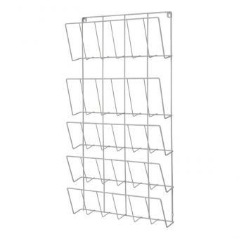 Vertikale Bücherregale für die Wand Silber