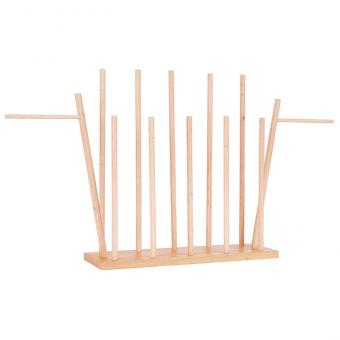 Holzständer, für 12 Handpuppen