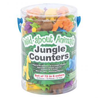 Kunterbunte Rechenfiguren Dschungel-Rechentiere