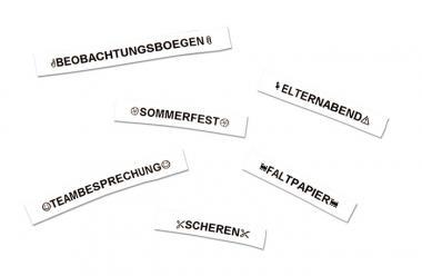 Dymo LetraTag Band Papier in Weiß