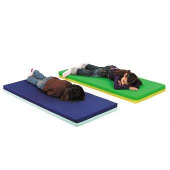 Schlaf-, Turn- und Tobematten 120 x 60 x 8 cm - Hellgrün/Dunkelgrün