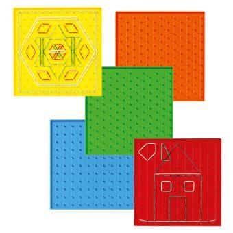 6 Regenbogen-Geometriebretter