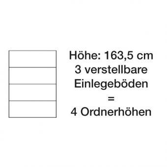 Asisto Stahlschrank mit DBS-Türen, 163,5 cm hoch