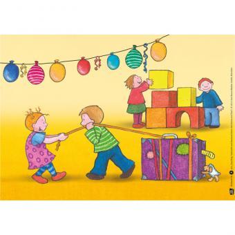 Kamishibai-Bildkarten, Fasching, Fastnacht und Karneval feiern mit Emma und Paul