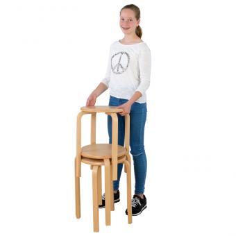 Holz-Stapelhocker