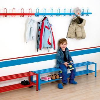 Schüler-Wandgarderoben in Blau - 1,5 m