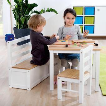 Kinder Spiel- und Sitzgarnitur Hannah Tisch und zwei Stühle