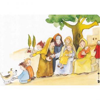 Kamishibai-Bildkarten, Jesus segnet die Kinder