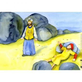 Kamishibai-Bildkarten, Der barmherzige Samariter