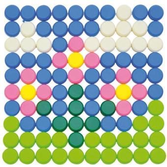 Knopf-Steckspiel