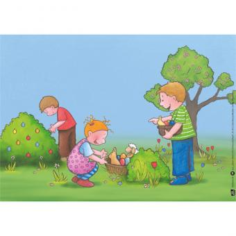 Kamishibai-Bildkarten, Ostern feiern mit Emma und Paul