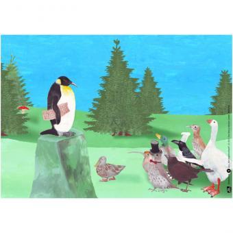Kamishibai-Bildkarten, Die Vogelhochzeit
