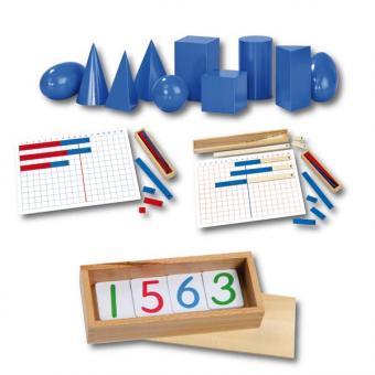 Fahrbares Montessori-Mathematik-Regal