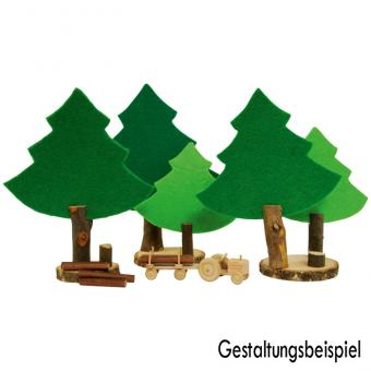 Naturholzscheiben, rund