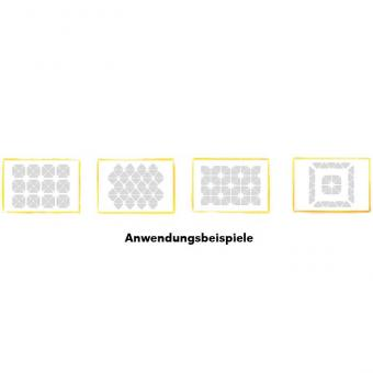Dreieckige Schallabsorber-Platten Weiß
