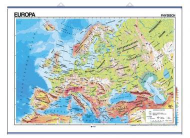 Wandkarten - Europa