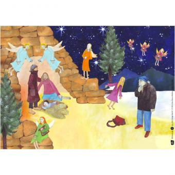 Kamishibai-Bildkarten, Die heilige Nacht