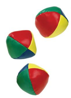 Jonglierbälle, 3er-Set, Ø 5 cm