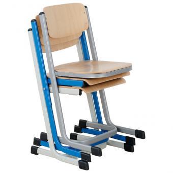 Schülerstuhl mit Doppel U-Fuß mit offenem Sitzträger