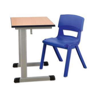Schülertisch mit L-Fuß-Profil Einertisch mit PU-Kante