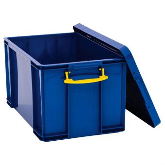 Große blaue Aufbewahrungsbox