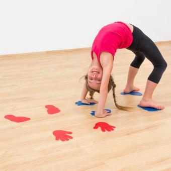 Bodenmarkierungen - Hände und Füße