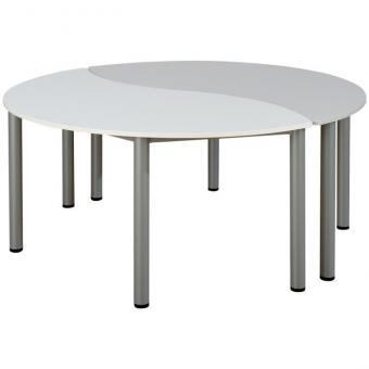 Wellen-Halbrund-Tisch