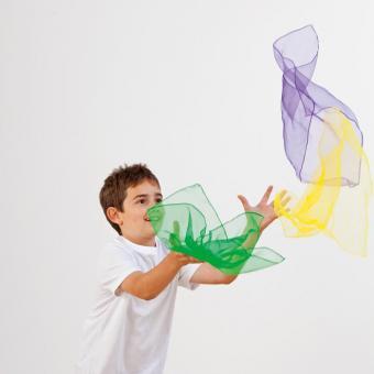 10 Chiffon-Tücher im Set 65 x 65 cm