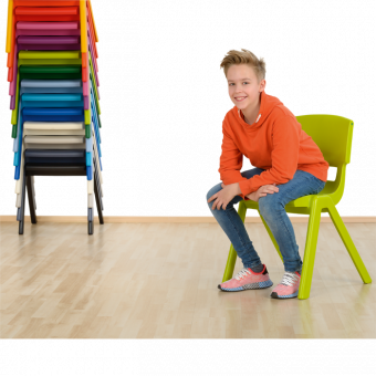 Postura+ Stuhl - Schwarz, aus recyceltem Material