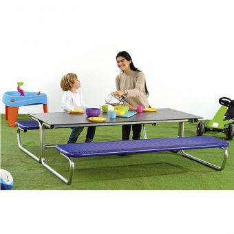 Outdoor Tisch-Sitz-Kombination, Sitzhöhe: 33 / 30,6 cm