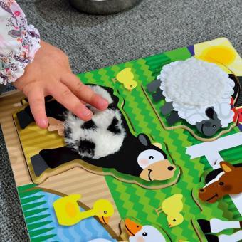 Fühlpuzzle-Set Bauernhof und Zoo