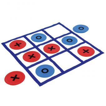 Riesengroßes Bodenspiel Tic Tac Toe