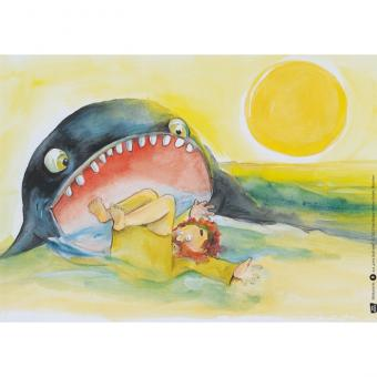 Kamishibai-Bildkarten, Jona läuft weg